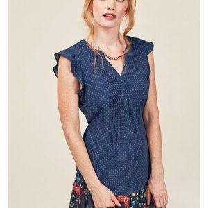 ModCloth Expert in Your Zeal Button-Up Top 4X